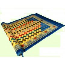 Muslim Prayer Mat & Multi Colour With Blue Base Prayer Mat
