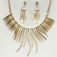 Golden Stones Necklace set