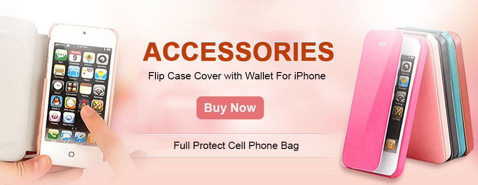 Flip Case Cover with Wallet for iPhone