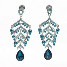 Silver Earrings blue stones