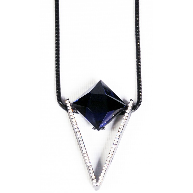 sterling september pin silver sapphire swarovski necklace blue birthstone pendant light crystal