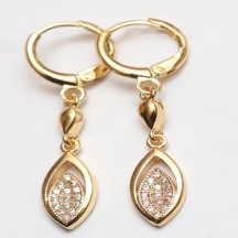 Golden metal Earrings  white stones
